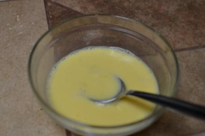 Eggs mix in a bowl