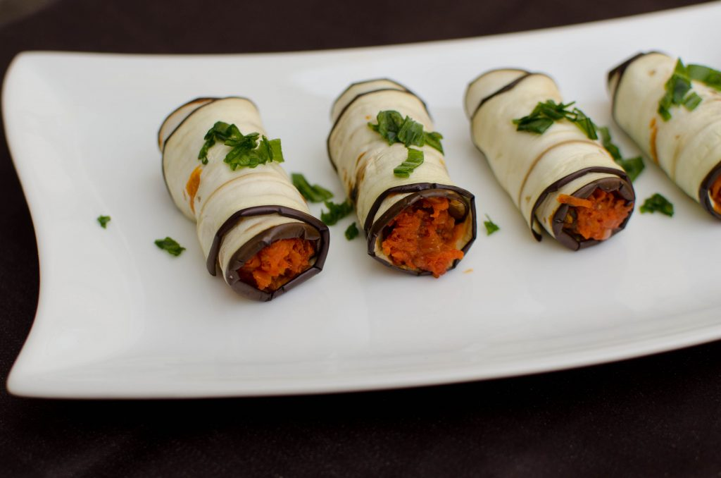 Eggplant Roll Up Appetizer