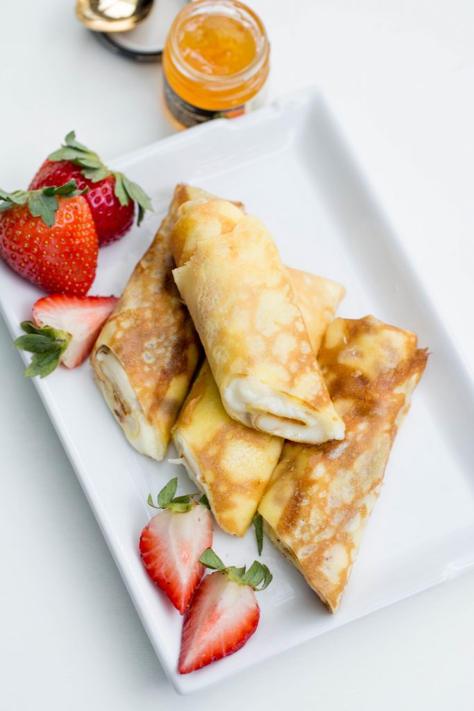 The Best Crepes on a plate