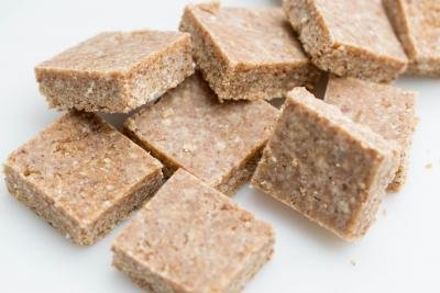 Sugar-Free Coconut Bars on the table